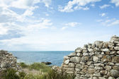Stone Wall on the Sea — Stock Photo