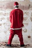Santa Urinating — Stock Photo
