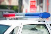 Police Car On Street — Stock Photo