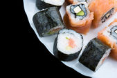 Sushi on a dish — Stock Photo