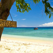 Stock Photo: Welcome to paradise beach and seon island, Gili Islands