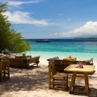 Bar at island beach of Gili Meno, Gili Islands — Stock Photo
