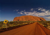 Outback Australia with Uluru — Stock Photo