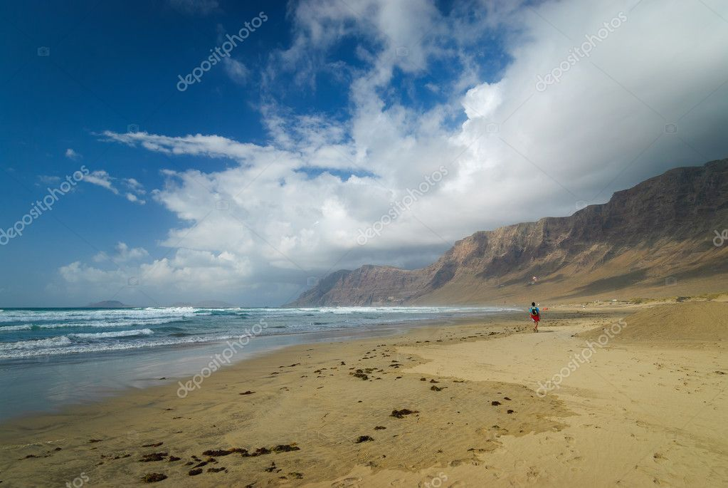 Beautiful beach on Lanzarote  Stock Photo #10674813