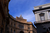 Naples Galleria and San Carlo — Stock Photo