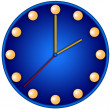 Blue Clock — Stock Photo