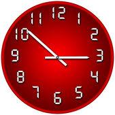 Orologio rosso — Foto Stock