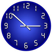 Blue and white clock — Stock Photo