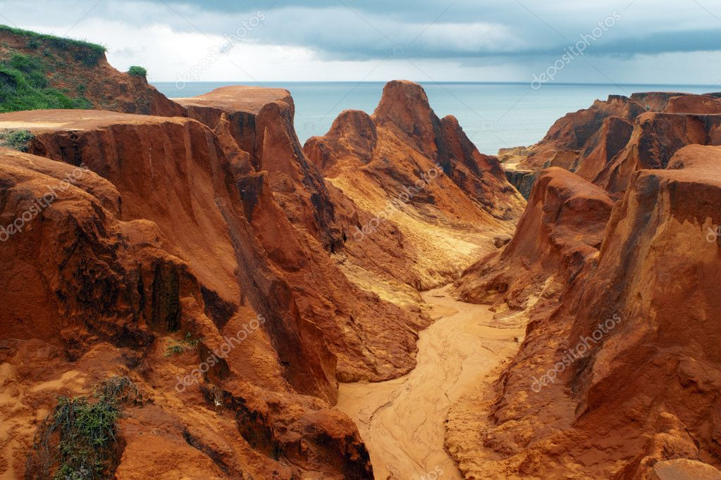 Sea cliffs of Morro Branco. Fortaleza, Brazil  Stock Photo #10472015