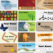 Various business card template — Stockvector #10726320