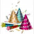 Birthday party items — Stock Vector