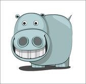 Hipopótamo — Vector de stock