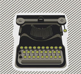 Typewriter — Vettoriale Stock