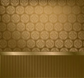 Glamour golden wallpaper — Stock Vector