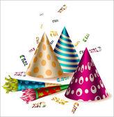 Birthday party items — Stock Vector