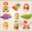 Toys - objects — Image vectorielle