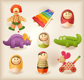 Toys - objects — Stock Vector