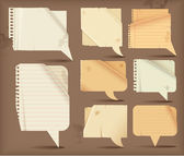 Paper speech bubbles — Vector de stock