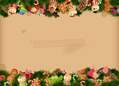 Christmas - toys background — Stock Vector