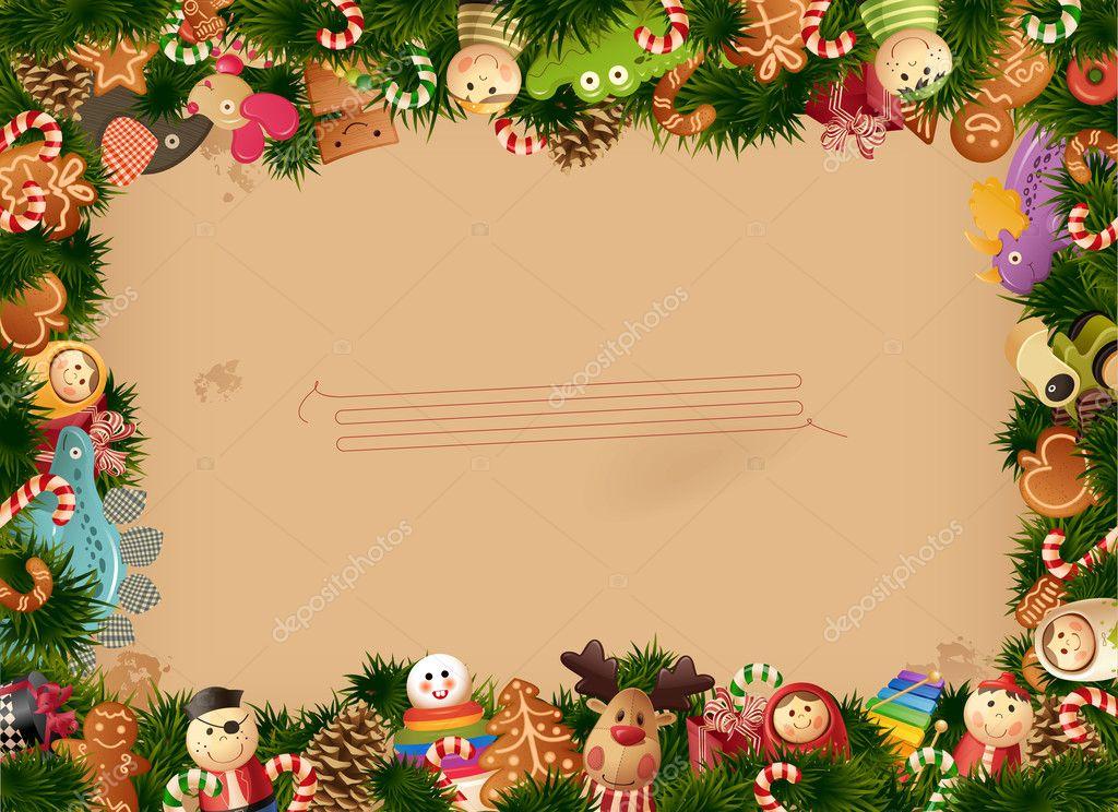 圣诞节-玩具背景 — 矢量图片作者