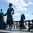 Monument to Peter the Great and Catherine the Great. — Stock Photo