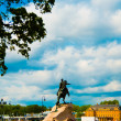 Monument to Peter the Great on the horse. — Stock Photo