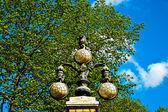 High beautiful lantern in the garden — Стоковое фото