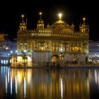 Golden Temple at night, Amritsar, India - Stock Photo
