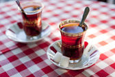 Turkish tea in traditional teacups — Stock Photo