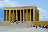 Founder of modern Turkey, Ataturk's mausoleum in Ankara — Stock Photo