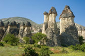 Fairy chimneys in Cappadoccia, Turkey — Stock Photo