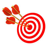 Three arrows in a target — Stok fotoğraf