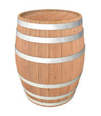 Beczki drewniane — Zdjęcie stockowe