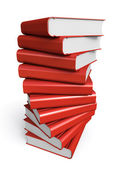Stack of red books — Stock Photo