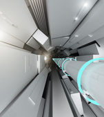 Hadron collider tunnel — Stock Photo