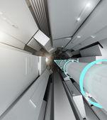 Hadron collider tunnel — Stock Photo