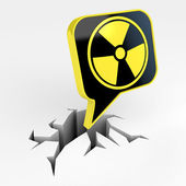 Radiation mark — Stock Photo
