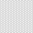 Stock Photo: Hexagon background texture