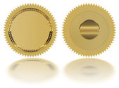 Gold seal — Stock Photo