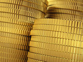 Golden coins stack — Stock Photo