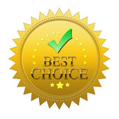Best Choice seal — Stock Photo