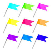Color flag pins — Stock Photo