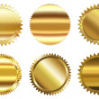 Set of golden seal — Stock Photo