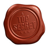 Top secret seal — Stock Photo