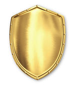 Gold shield — Stock Photo