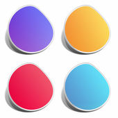Blank color stickers — Stock Photo