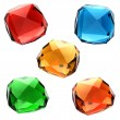 Set of colorful gems — Stock Photo