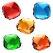 Set of colorful gems — Stock Photo #10558620