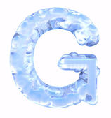 Ice font. Letter G. Upper case, isolated on white background — Stock Photo