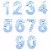 Ledová čísla — Stock fotografie